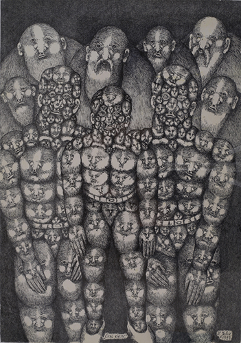 Outsider art : Jakić Vojislav : Black Days (replacement, exchange, tattoos, premonition, death)